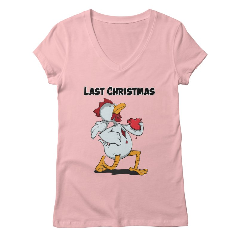 Last Christmas I gave You my Heart Women's Regular V-Neck by Illustrated Madness
