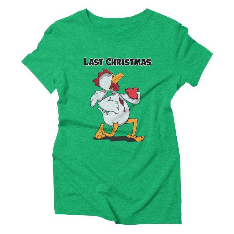 Last Christmas I gave You my Heart Women's Triblend T-Shirt by Illustrated Madness