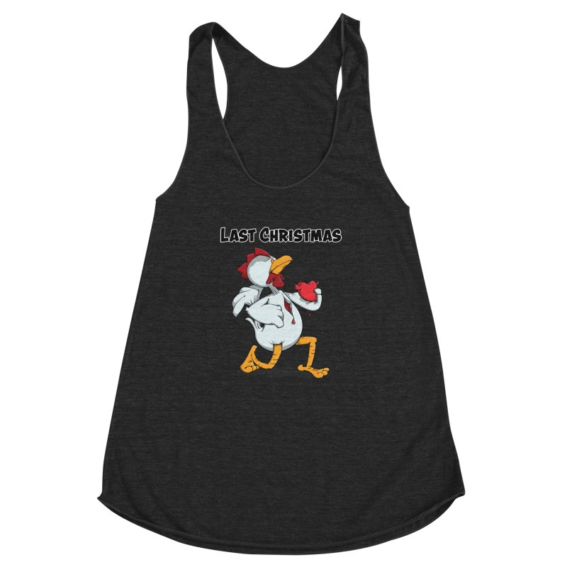 Last Christmas I gave You my Heart Women's Racerback Triblend Tank by Illustrated Madness