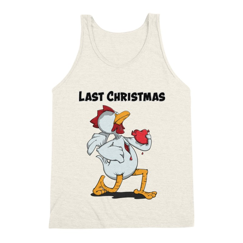 Last Christmas I gave You my Heart Men's Triblend Tank by Illustrated Madness