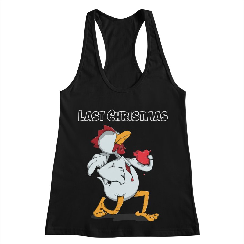 Last Christmas I gave You my Heart Women's Racerback Tank by Illustrated Madness