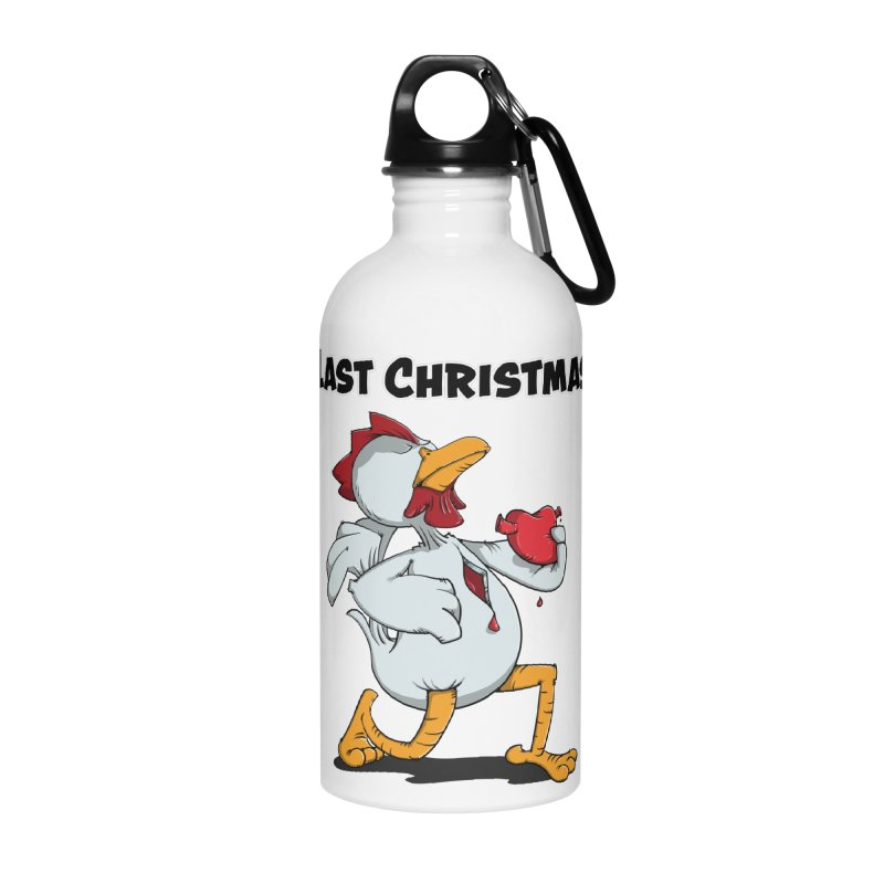 Last Christmas I gave You my Heart Accessories Water Bottle by Illustrated Madness