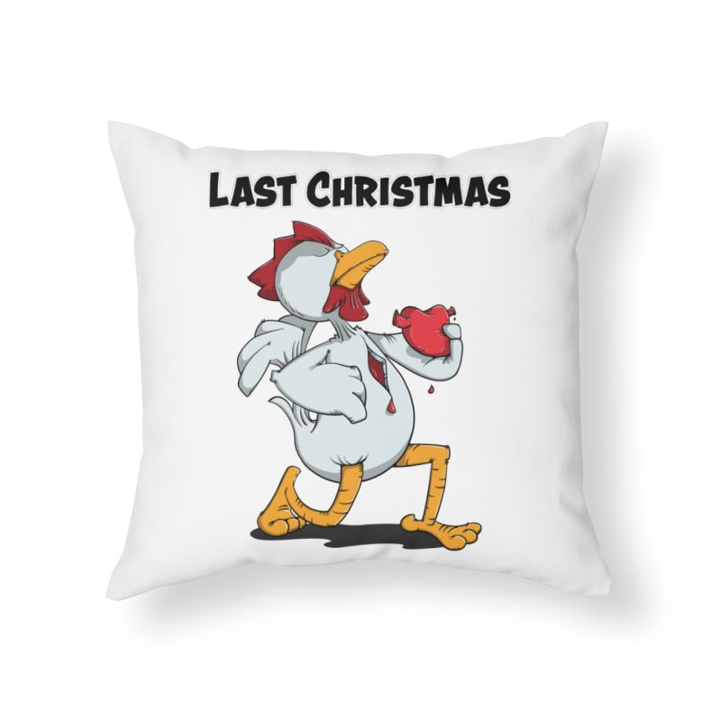 Last Christmas I gave You my Heart Home Throw Pillow by Illustrated Madness