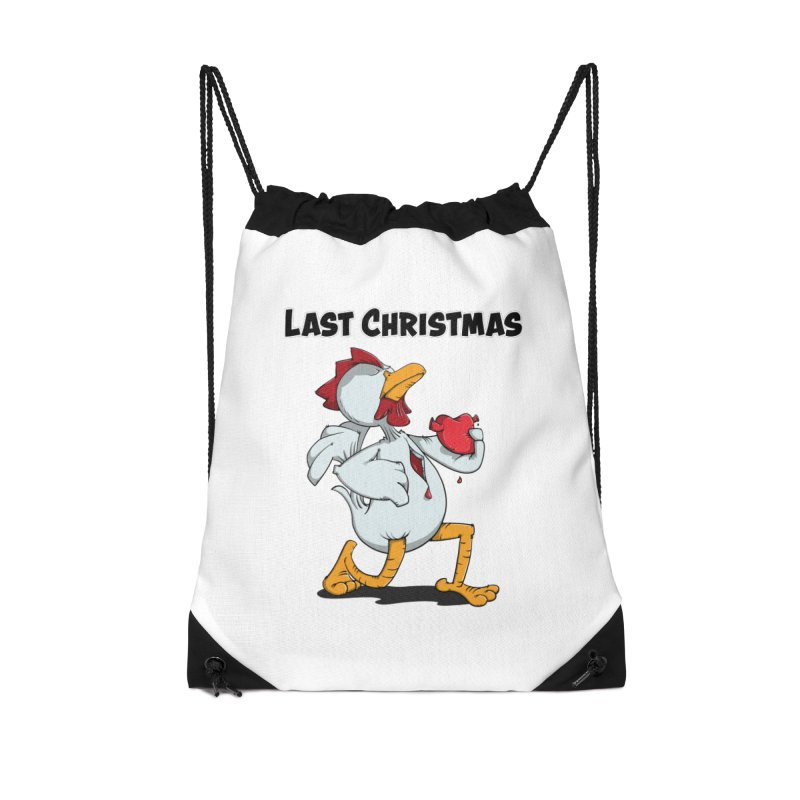 Last Christmas I gave You my Heart Accessories Drawstring Bag Bag by Illustrated Madness