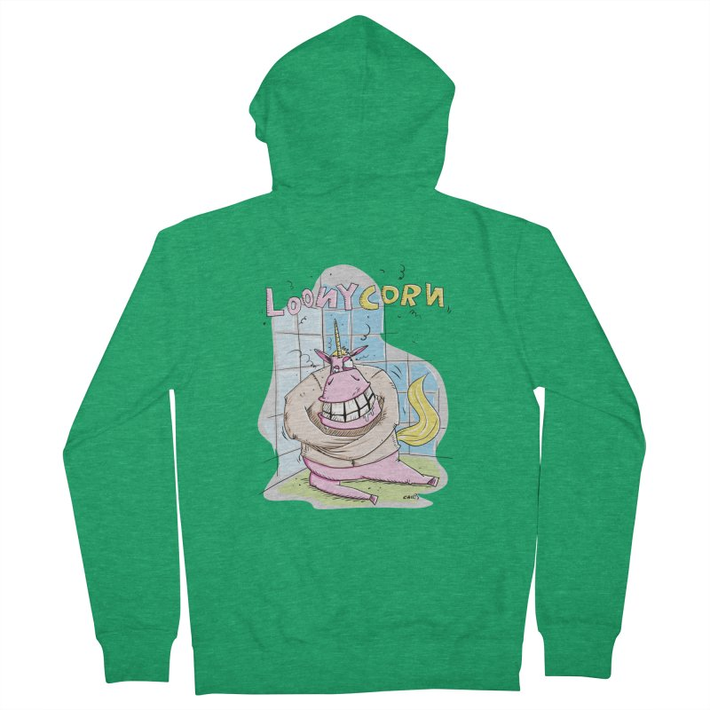 Loony Unicorn - Loonycorn Women's Zip-Up Hoody by Illustrated Madness