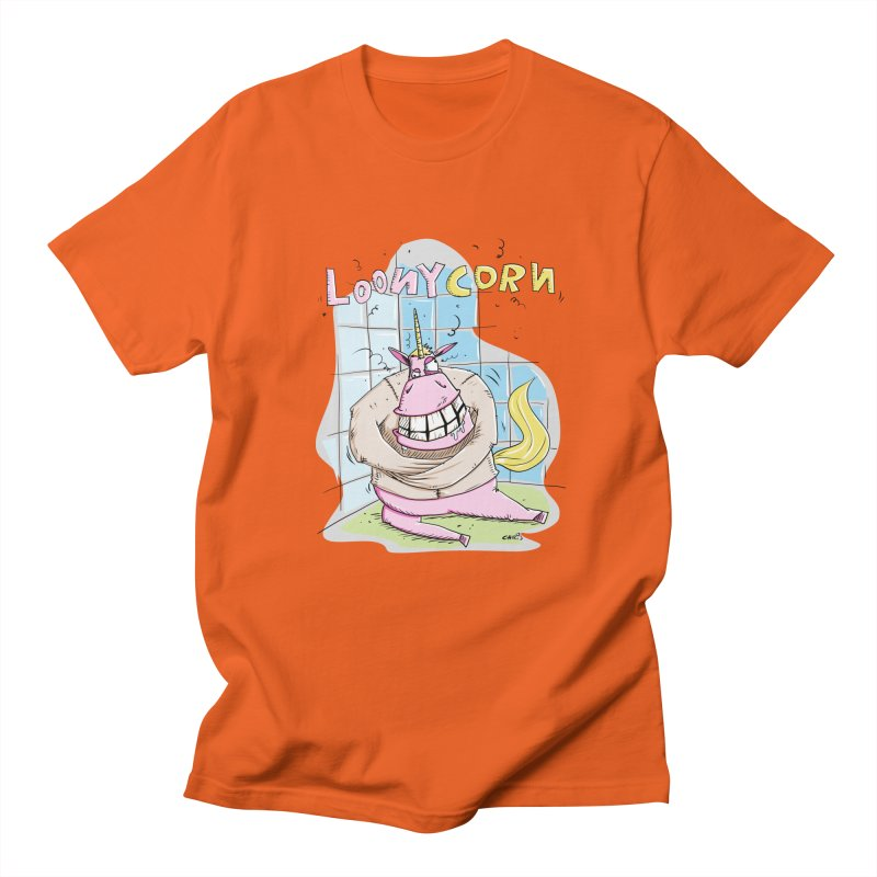 Loony Unicorn - Loonycorn Men's T-Shirt by Illustrated Madness