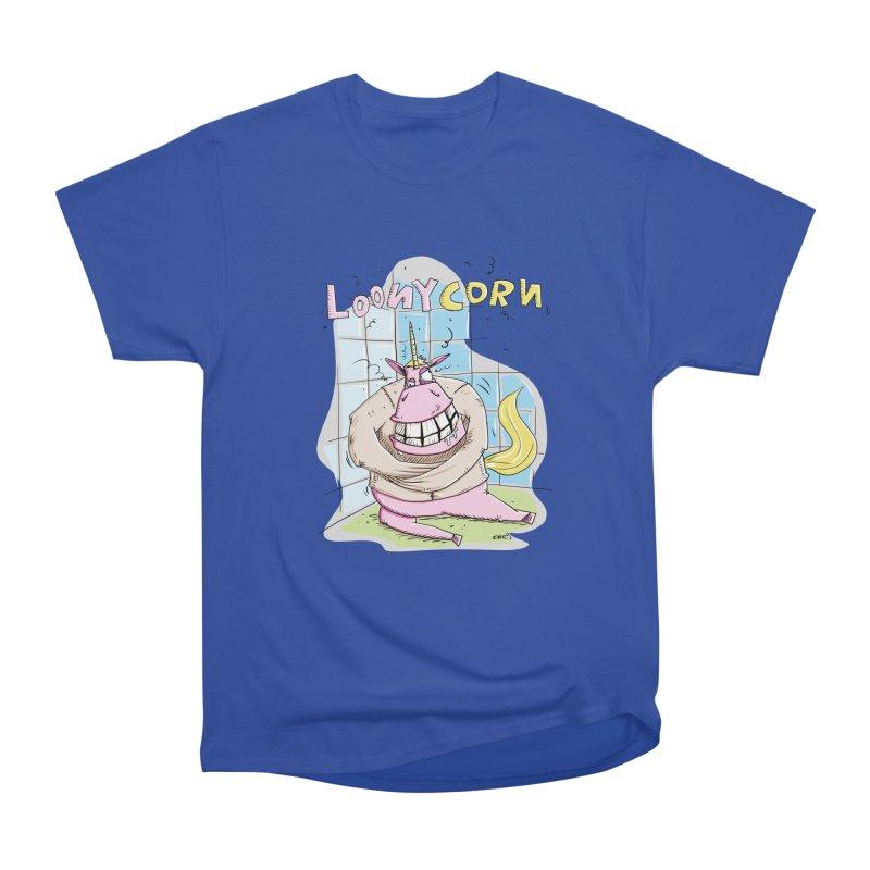 Loony Unicorn - Loonycorn Women's Heavyweight Unisex T-Shirt by Illustrated Madness