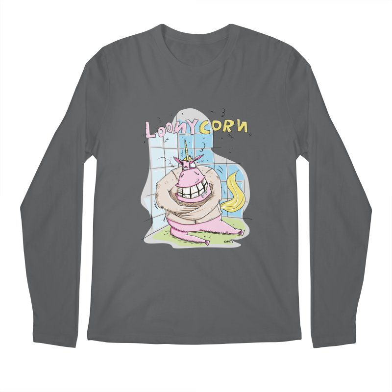 Loony Unicorn - Loonycorn Men's Longsleeve T-Shirt by Illustrated Madness