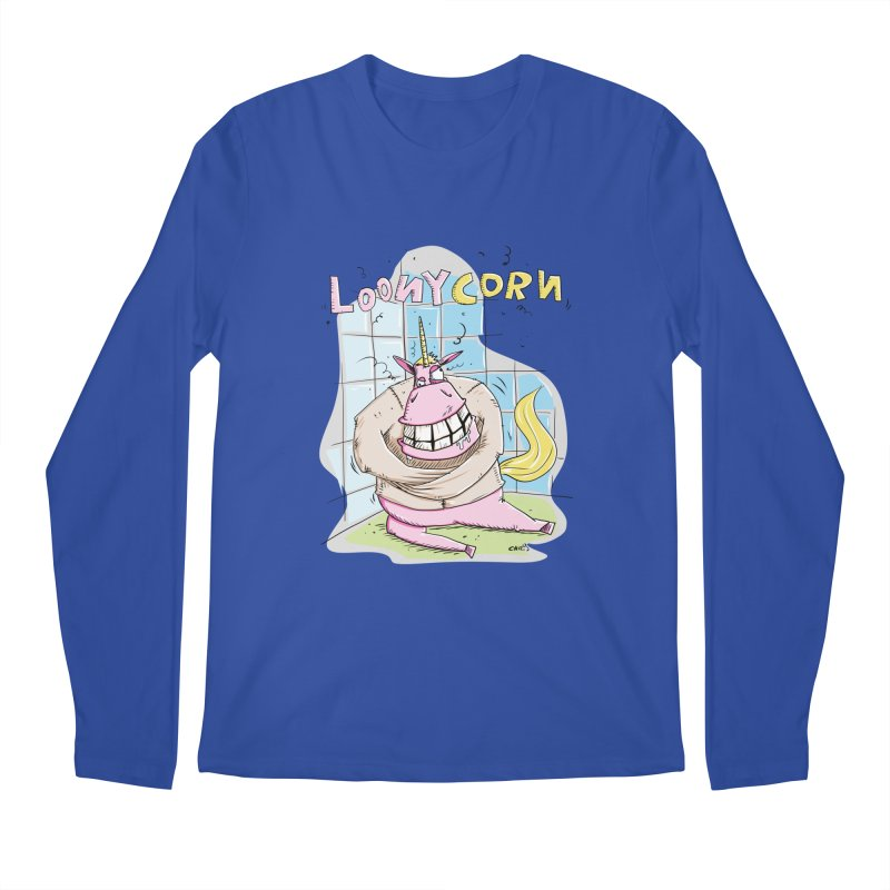 Loony Unicorn - Loonycorn Men's Regular Longsleeve T-Shirt by Illustrated Madness