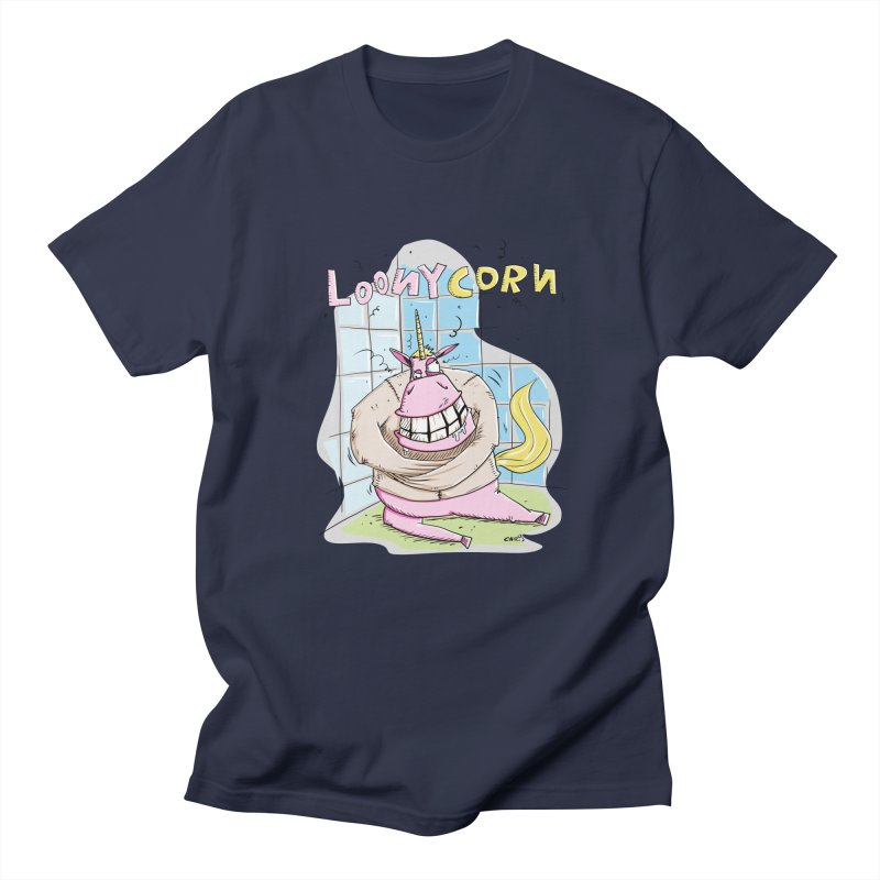 Loony Unicorn - Loonycorn Women's Regular Unisex T-Shirt by Illustrated Madness