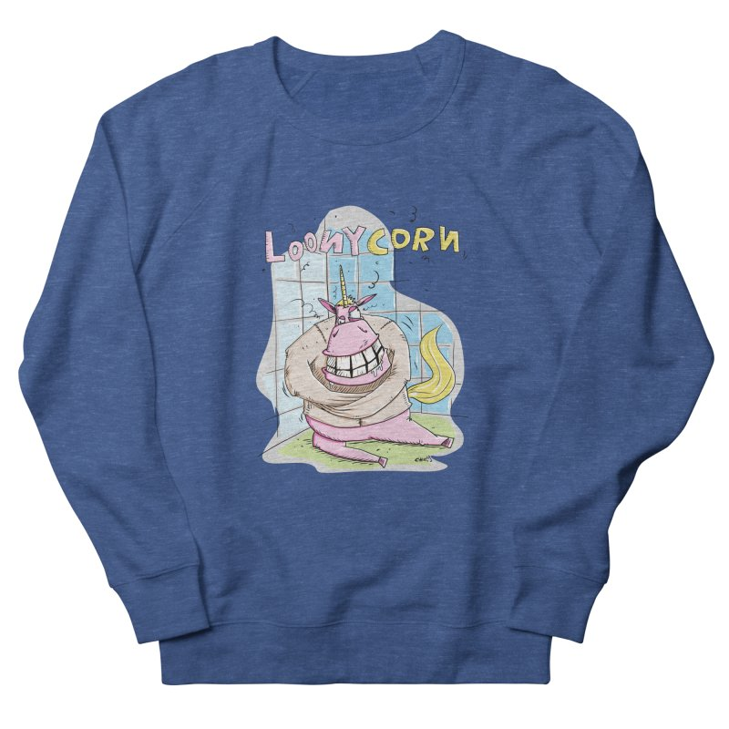 Loony Unicorn - Loonycorn Men's Sweatshirt by Illustrated Madness