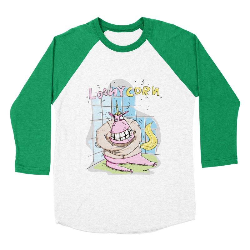 Loony Unicorn - Loonycorn Women's Baseball Triblend Longsleeve T-Shirt by Illustrated Madness