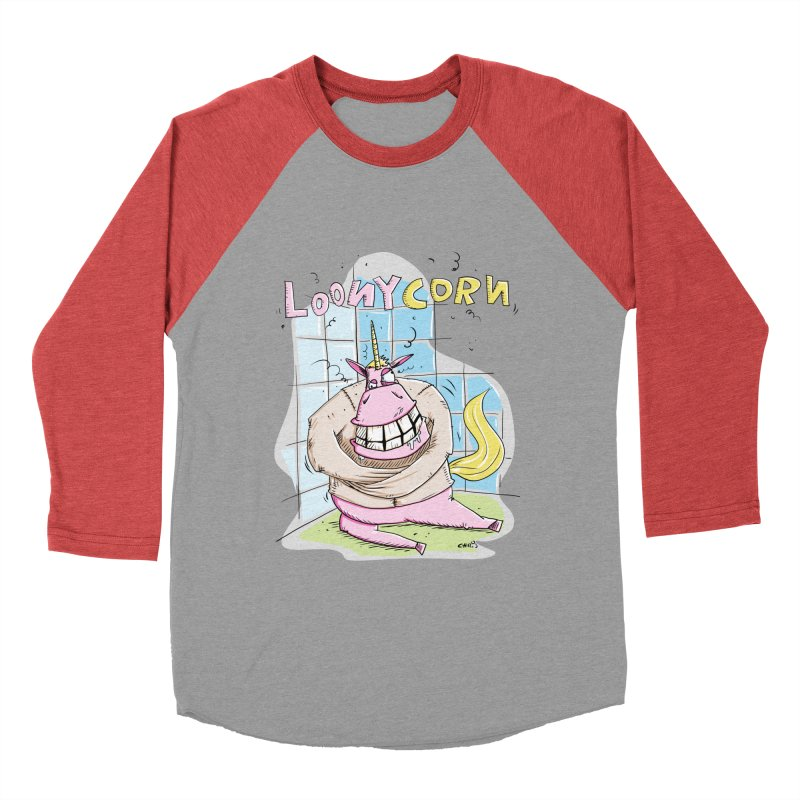 Loony Unicorn - Loonycorn Women's Baseball Triblend Longsleeve T-Shirt by Illustrated Madness