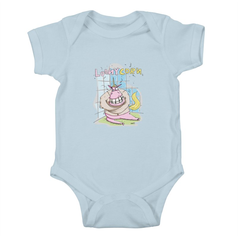 Loony Unicorn - Loonycorn Kids Baby Bodysuit by Illustrated Madness