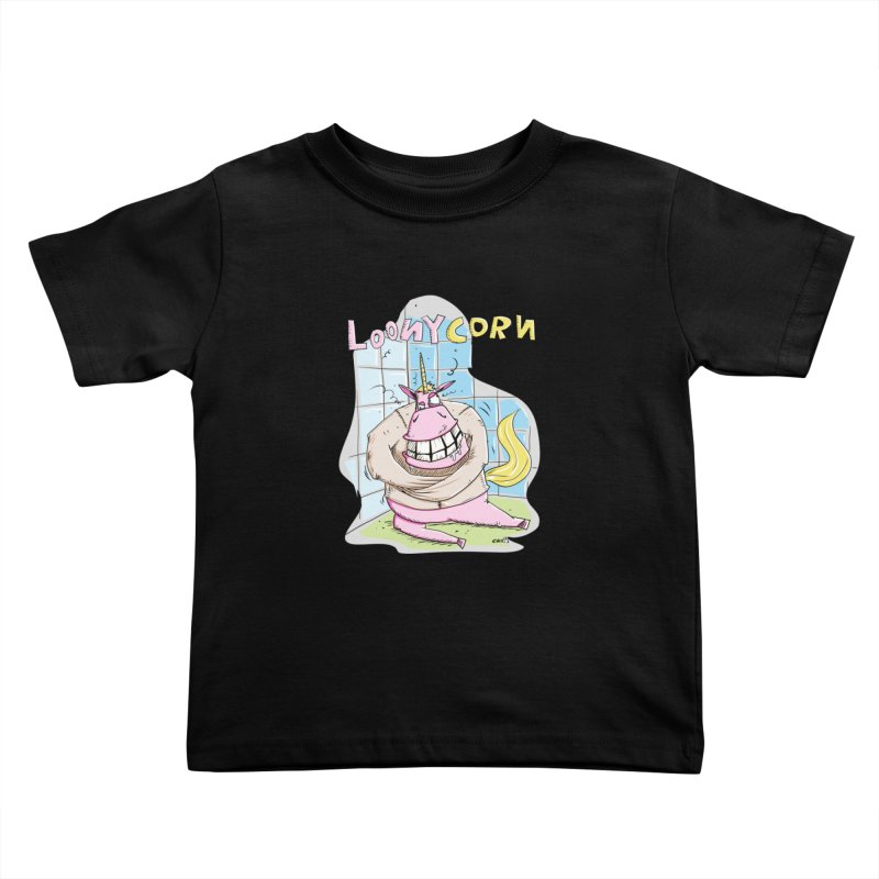 Loony Unicorn - Loonycorn Kids Toddler T-Shirt by Illustrated Madness