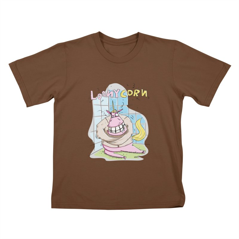 Loony Unicorn - Loonycorn Kids T-Shirt by Illustrated Madness