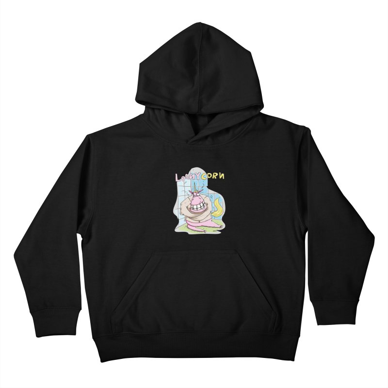Loony Unicorn - Loonycorn Kids Pullover Hoody by Illustrated Madness