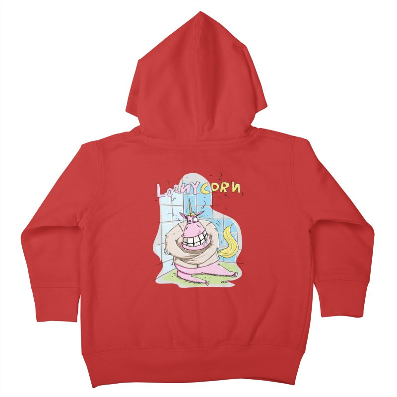 Loony Unicorn - Loonycorn Kids Toddler Zip-Up Hoody by Illustrated Madness
