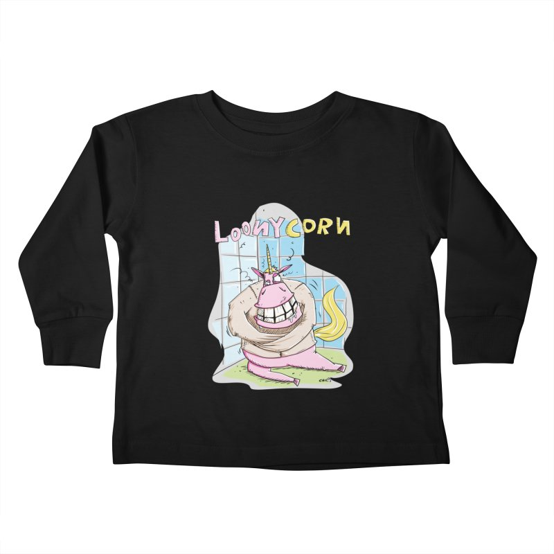 Loony Unicorn - Loonycorn Kids Toddler Longsleeve T-Shirt by Illustrated Madness