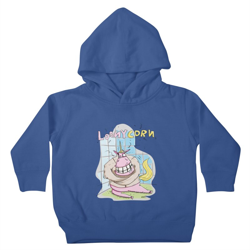 Loony Unicorn - Loonycorn Kids Toddler Pullover Hoody by Illustrated Madness