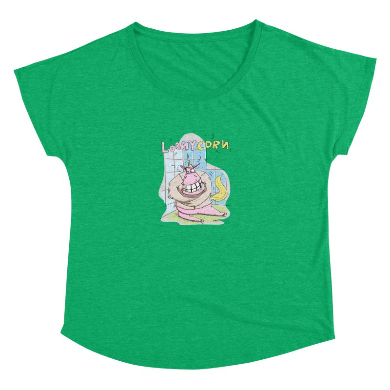 Loony Unicorn - Loonycorn Women's Scoop Neck by Illustrated Madness