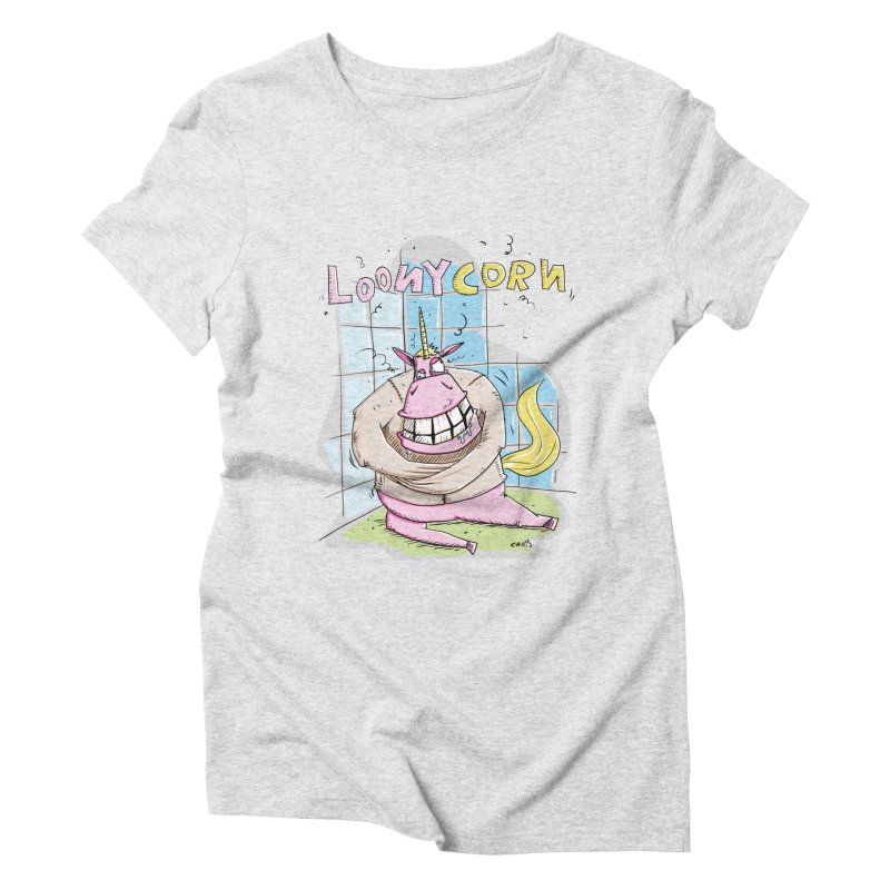 Loony Unicorn - Loonycorn Women's T-Shirt by Illustrated Madness