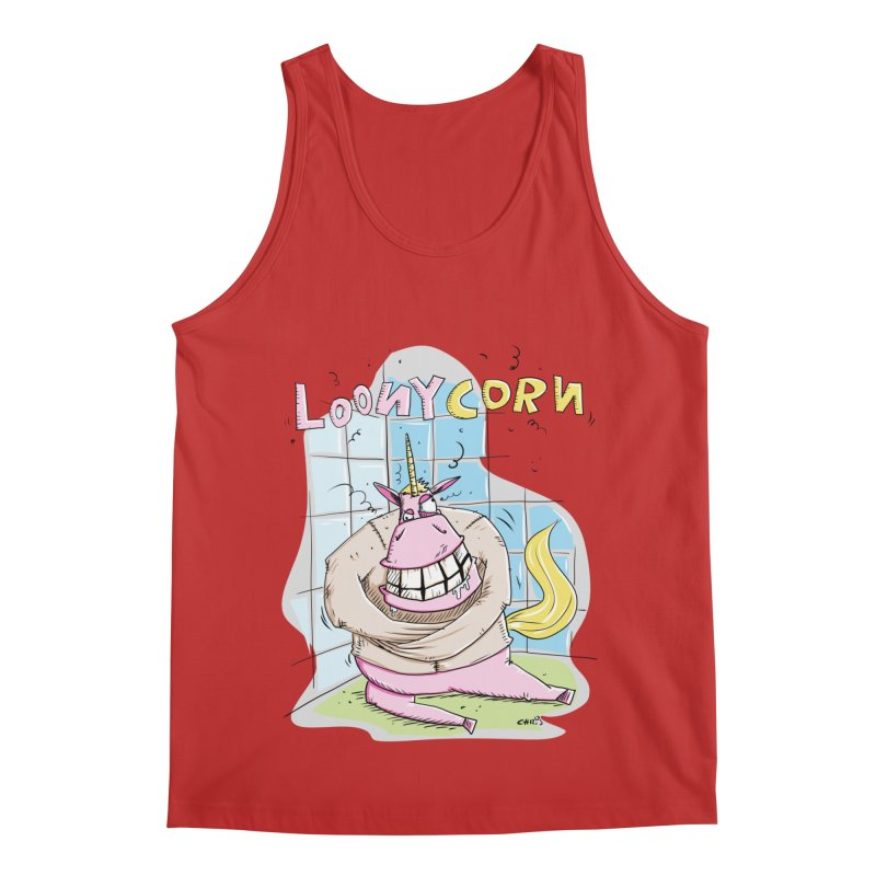 Loony Unicorn - Loonycorn Men's Regular Tank by Illustrated Madness