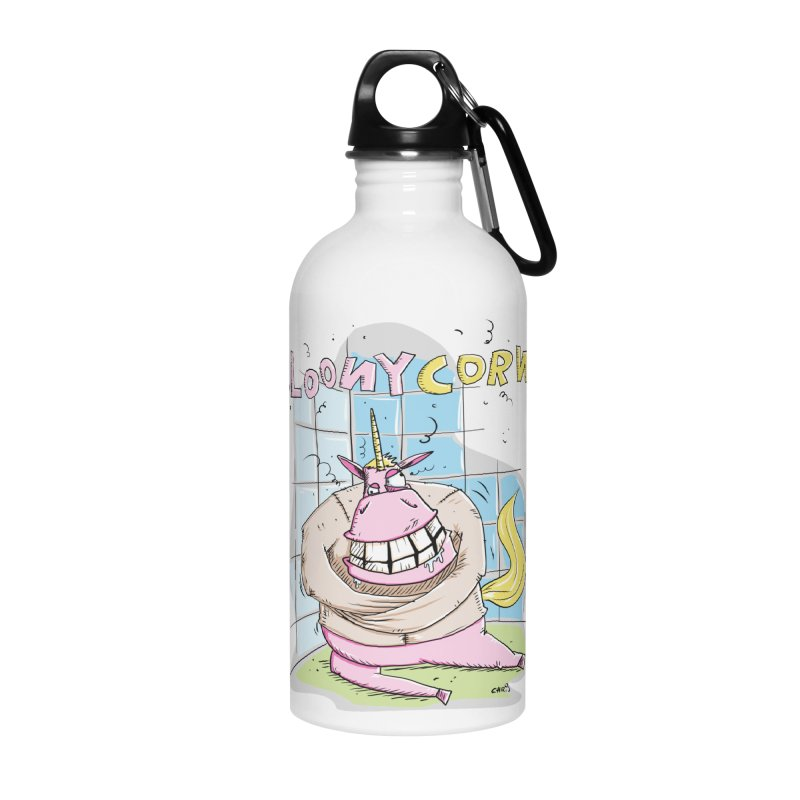 Loony Unicorn - Loonycorn Accessories Water Bottle by Illustrated Madness