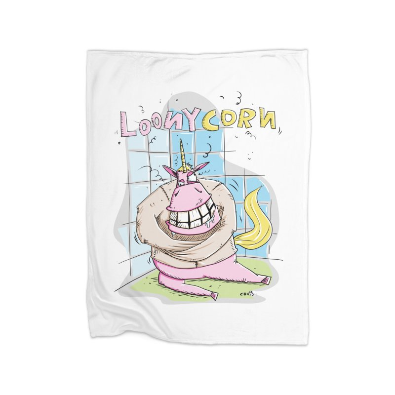 Loony Unicorn - Loonycorn Home Blanket by Illustrated Madness