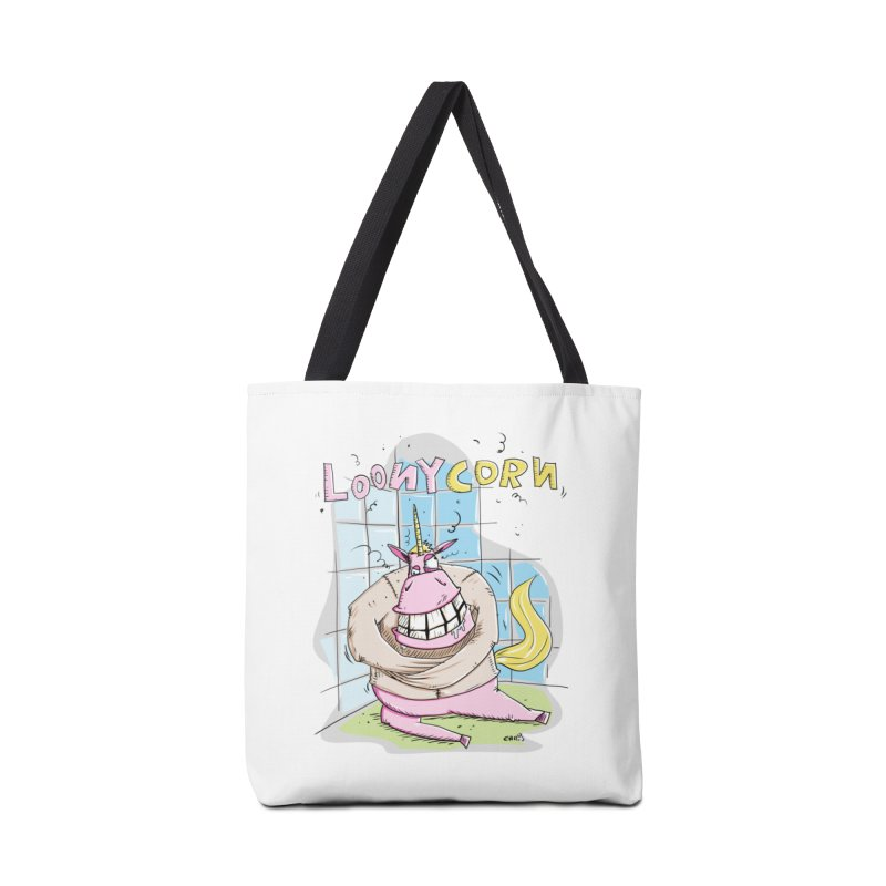 Loony Unicorn - Loonycorn Accessories Tote Bag Bag by Illustrated Madness