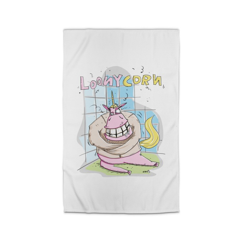 Loony Unicorn - Loonycorn Home Rug by Illustrated Madness