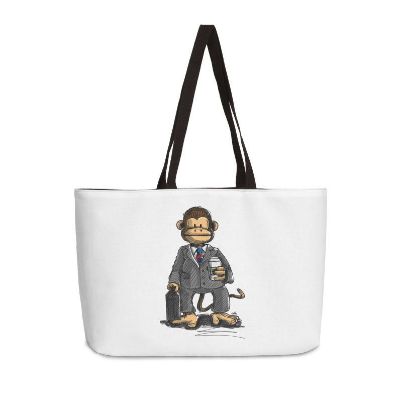 The Business Monkey drinks a Coffee to go Accessories Bag by Illustrated Madness