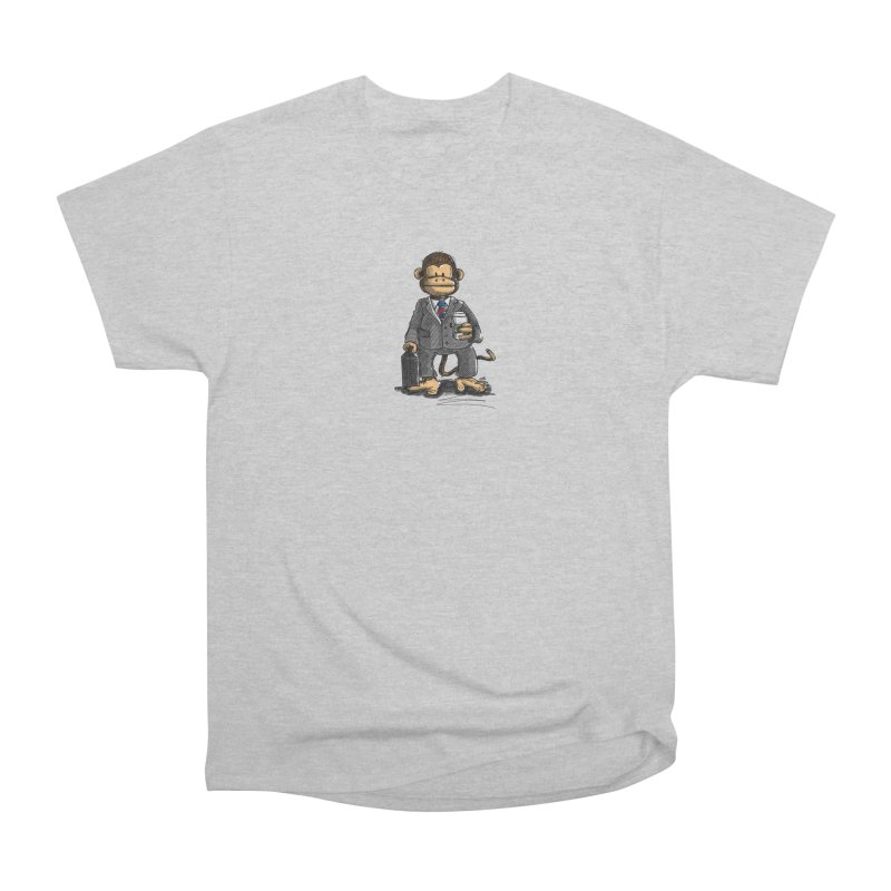 The Business Monkey drinks a Coffee to go Men's T-Shirt by Illustrated Madness