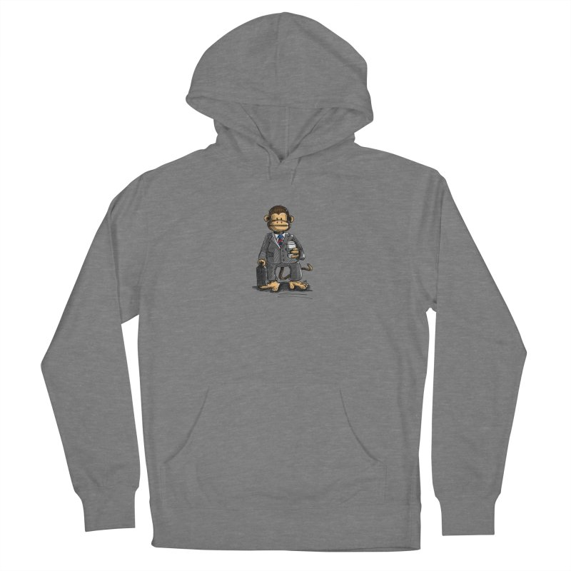 The Business Monkey drinks a Coffee to go Women's Pullover Hoody by Illustrated Madness