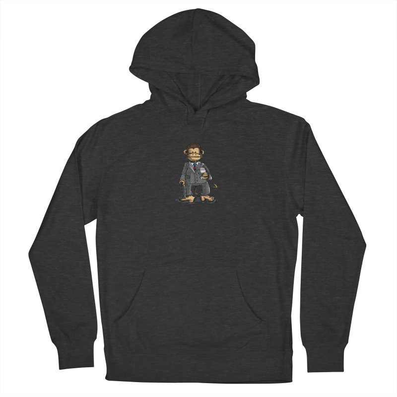 The Business Monkey drinks a Coffee to go Men's Pullover Hoody by Illustrated Madness