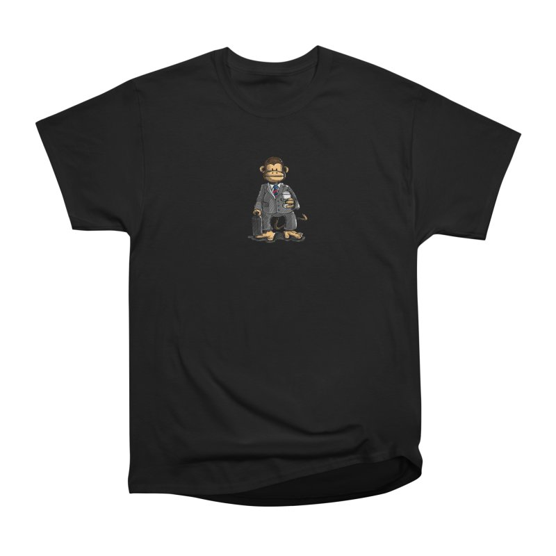 The Business Monkey drinks a Coffee to go Men's Heavyweight T-Shirt by Illustrated Madness