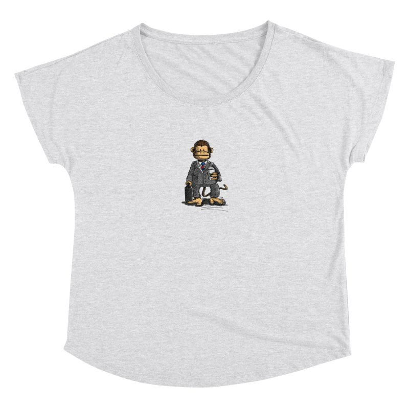 The Business Monkey drinks a Coffee to go Women's Dolman by Illustrated Madness