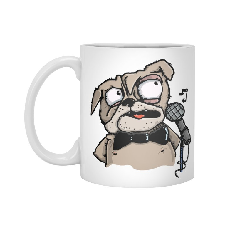 The Pug sings that old jazzy Tune. My Way in New York. Accessories Standard Mug by Illustrated Madness