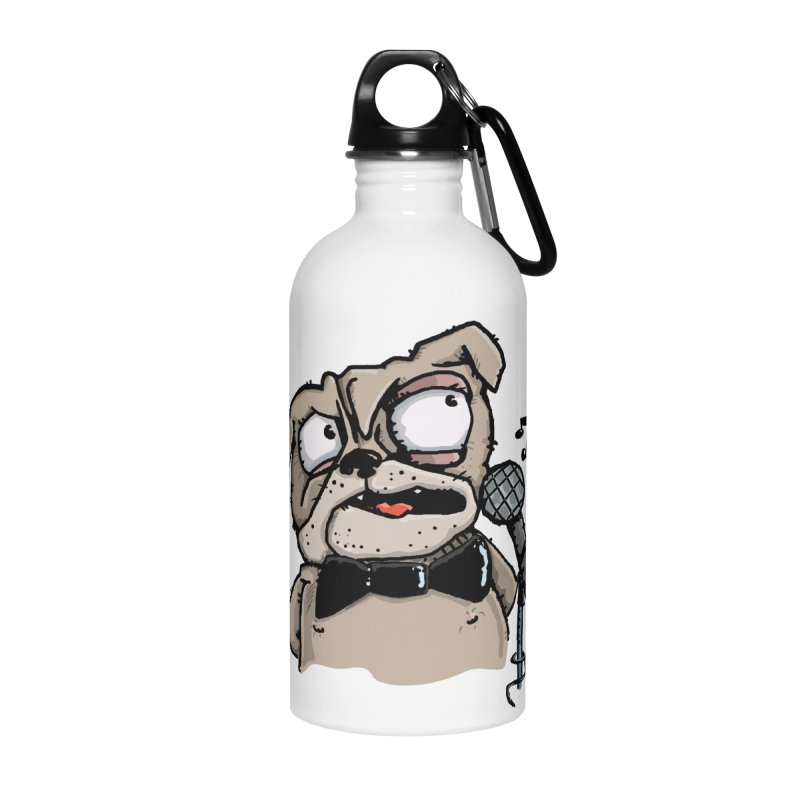 The Pugs sings that old jazzy Tune. My Way in New York. Accessories Water Bottle by Illustrated Madness
