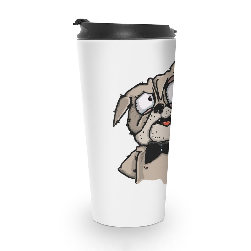 The Pug sings that old jazzy Tune. My Way in New York. Accessories Travel Mug by Illustrated Madness