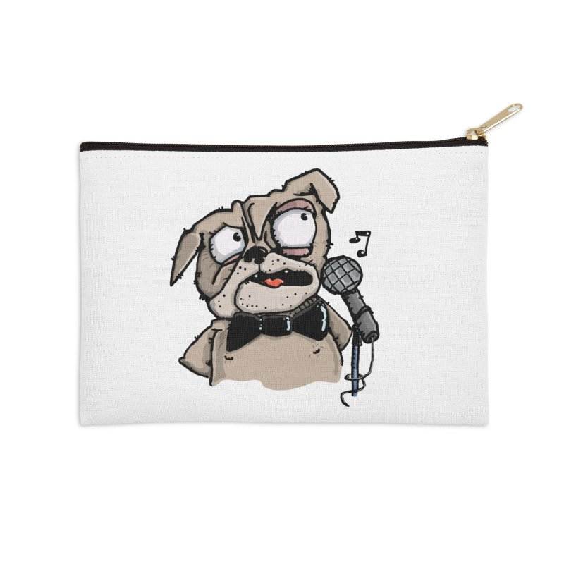 The Pug sings that old jazzy Tune. My Way in New York. Accessories Zip Pouch by Illustrated Madness