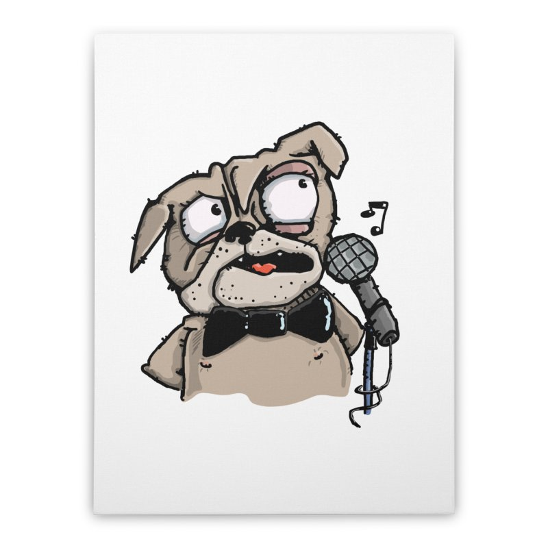 The Pug sings that old jazzy Tune. My Way in New York. Home Stretched Canvas by Illustrated Madness