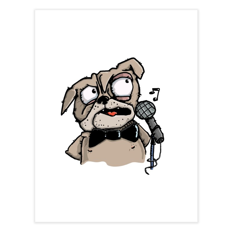 The Pug sings that old jazzy Tune. My Way in New York. Home Fine Art Print by Illustrated Madness