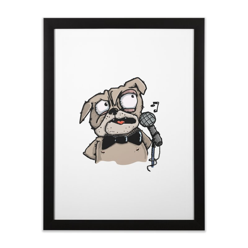 The Pug sings that old jazzy Tune. My Way in New York. Home Framed Fine Art Print by Illustrated Madness