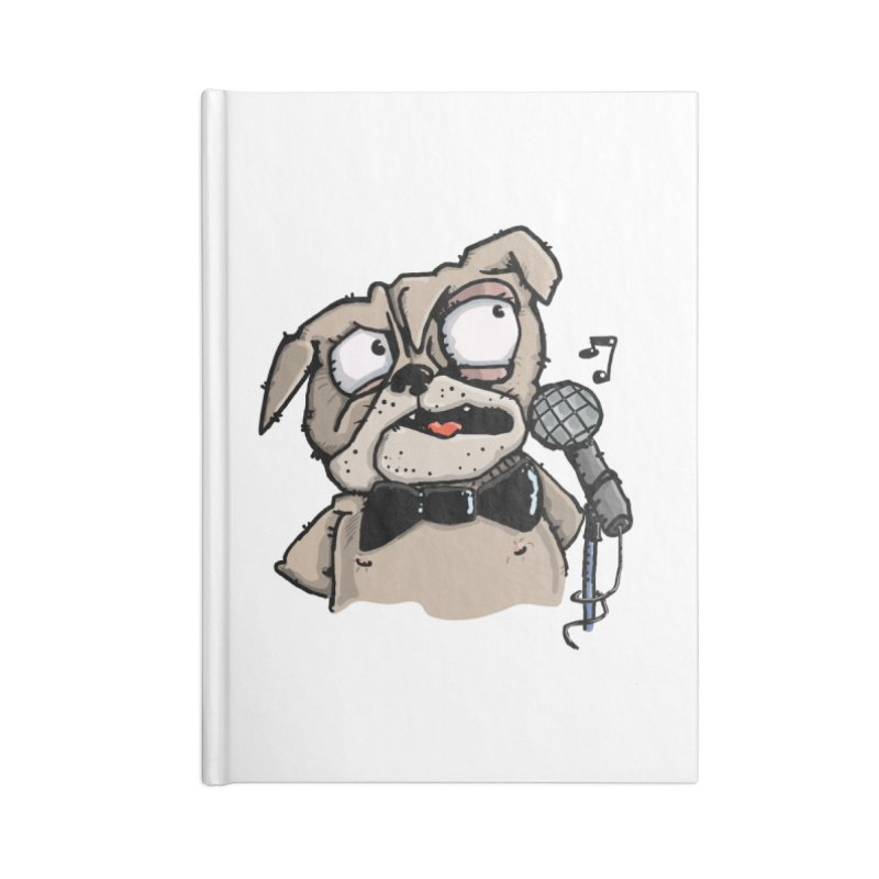 The Pug sings that old jazzy Tune. My Way in New York. Accessories Lined Journal Notebook by Illustrated Madness