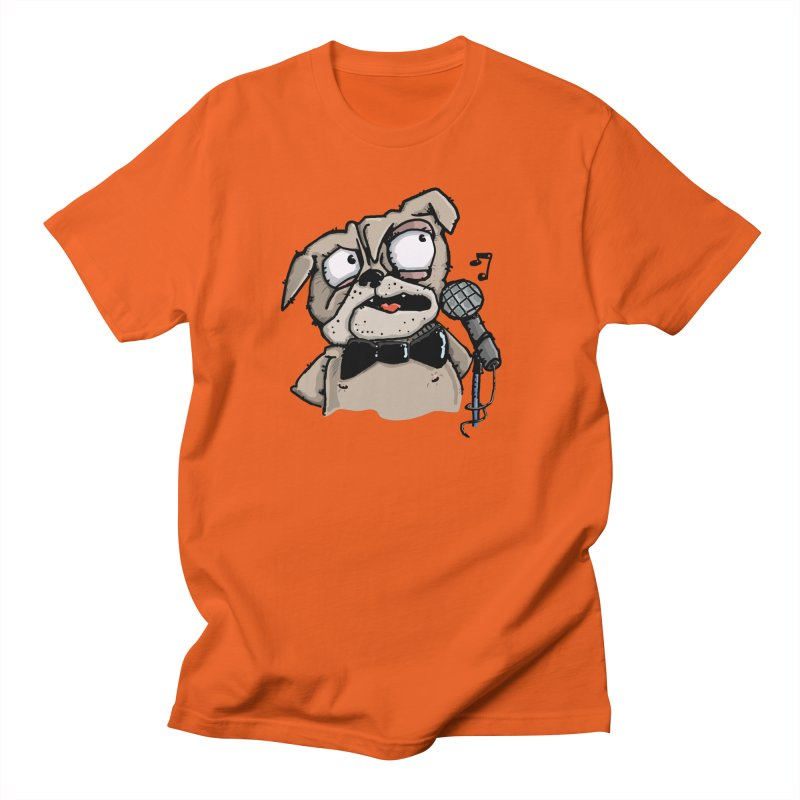 The Pug sings that old jazzy Tune. My Way in New York. Men's T-Shirt by Illustrated Madness