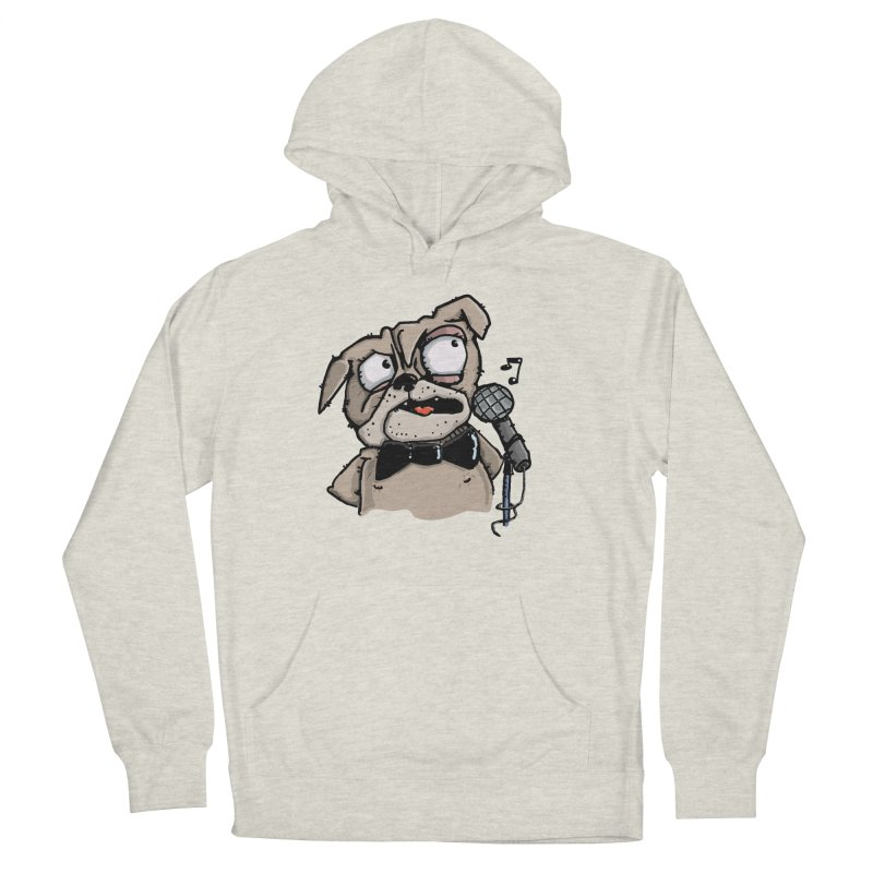 The Pug sings that old jazzy Tune. My Way in New York. Men's Pullover Hoody by Illustrated Madness