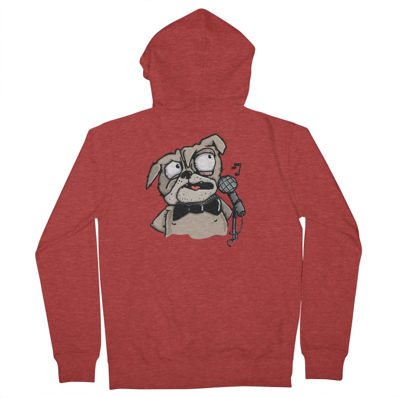 The Pug sings that old jazzy Tune. My Way in New York. Men's Zip-Up Hoody by Illustrated Madness