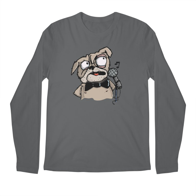 The Pug sings that old jazzy Tune. My Way in New York. Men's Longsleeve T-Shirt by Illustrated Madness