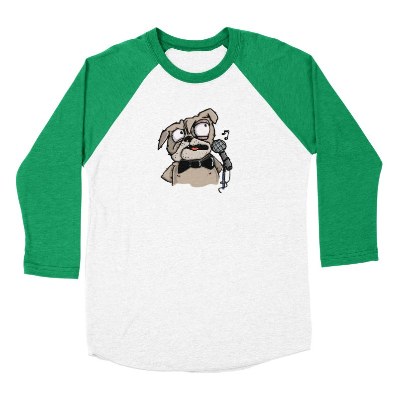 The Pug sings that old jazzy Tune. My Way in New York. Women's Baseball Triblend Longsleeve T-Shirt by Illustrated Madness